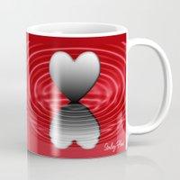 valentine Mugs featuring Valentine by Kathleen Stephens