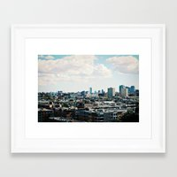 cityscape Framed Art Prints featuring Cityscape by Jessica D. Vega