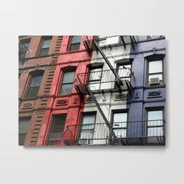 Behind the French flag Metal Print
