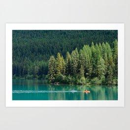 Bowman Lake Blue Art Print