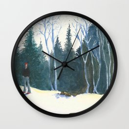 Red Beanie Wall Clock