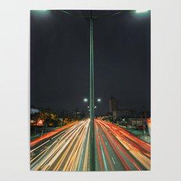Car Lights Poster