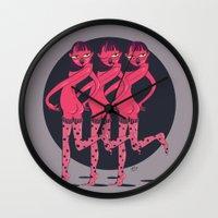 booty Wall Clocks featuring BOOTY by Yna Crez