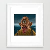 cyclops Framed Art Prints featuring Cyclops by Jim Agpalza