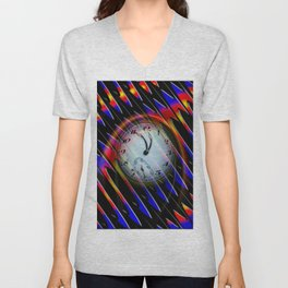 Abstract - Perfection- Time is running Unisex V-Neck