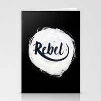 rebel Stationery Cards featuring Rebel by thezeegn