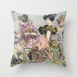 glamorous ladies Throw Pillow