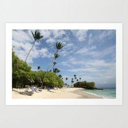 Beach at Bacardi Island, Cayo Levantado, Samana, Dominican Republic Art Print