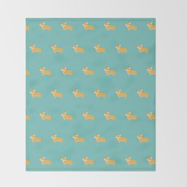 Corgi pattern Throw Blanket
