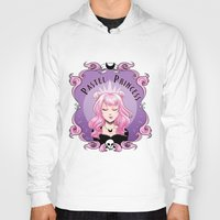 pastel goth Hoodies featuring Pastel princess by Stevie Wilson