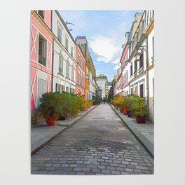 Rue Cremieux in Paris Poster