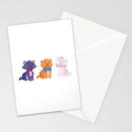 Once upon a time Aristocats Stationery Cards