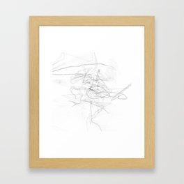"""""""Whatever, Oh Well"""" Black and White Abstract Design Framed Art Print"""