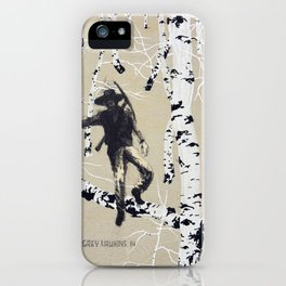 The Silver Miner iPhone Case