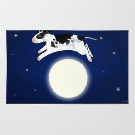 Whimsical Cow Jumping over the Moon Rug