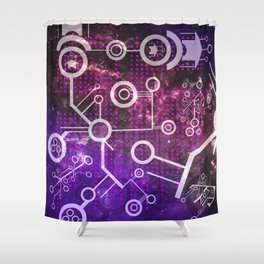 Digital Universe Shower Curtain