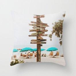 Key West Beach Day  Throw Pillow