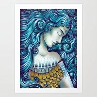 Calypso Sleeps Art Print
