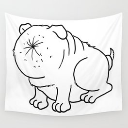 Der Arschlochhund - The Asshole Dog Wall Tapestry