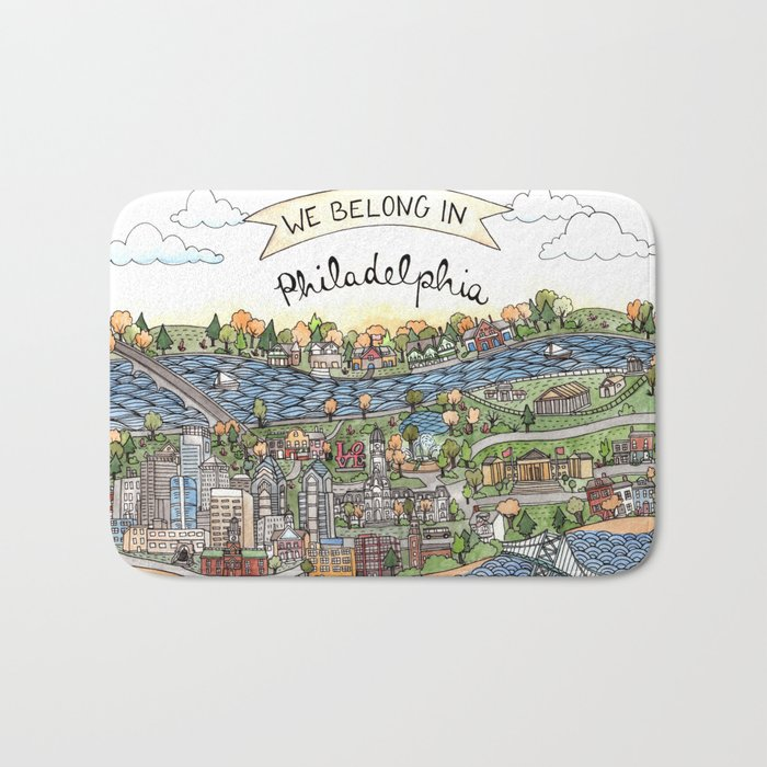 We Belong in Philadelphia! Bath Mat