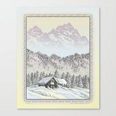 SNOWED IN PEN DRAWING COLOR VERSION Canvas Print