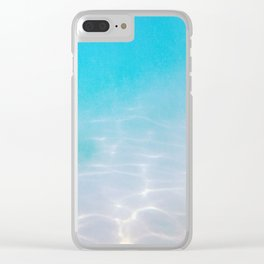 Misty Blue Pacific Ocean Floor Clear iPhone Case