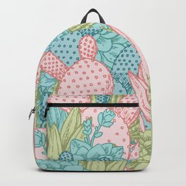Pastel Cacti Obsession #society6 Backpack