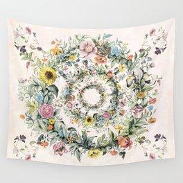Circle of life- floral Wandbehang