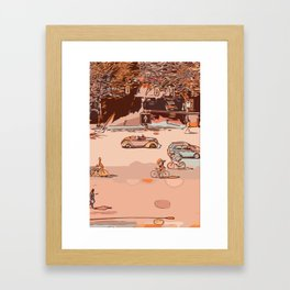 Traffic crossroad Framed Art Print