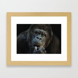 thinking about U Framed Art Print