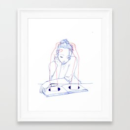 Good Read Framed Art Print