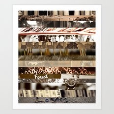 Brown Intersections Art Print