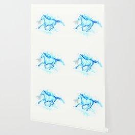 Flame  Horse, aqua Wallpaper