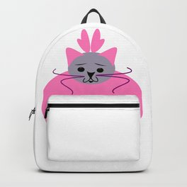 Happy Holidays (pink)- purrfect gifts for cat lovers Backpack