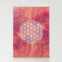 flower of life Stationery Cards featuring Life Flower by shutupbek