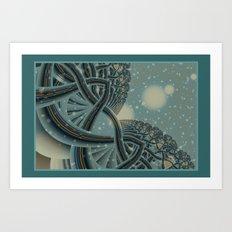 Celtic Winter Forest Art Print
