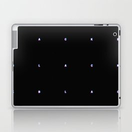 BLACK + neon pixels/ minimal Laptop & iPad Skin