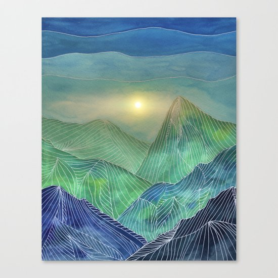 Lines in the mountains V Canvas Print