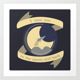 To the moon Art Print