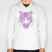 rave Hoodies featuring Tiger Rave by James Thornton