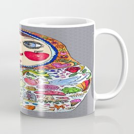 'Cheeks like apples' Matryoshka doll Coffee Mug