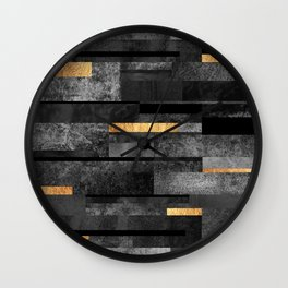 Urban Black & Gold Wall Clock