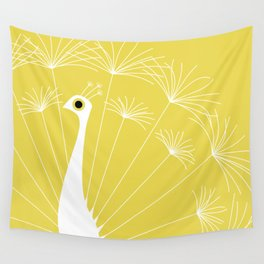 Dandelion Peacock Wall Tapestry