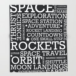 Space Text inspirational poster. Throw Blanket