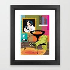 Black Velvet and a Modern Chair Framed Art Print