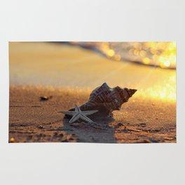 Golden Summer on the Beach Rug