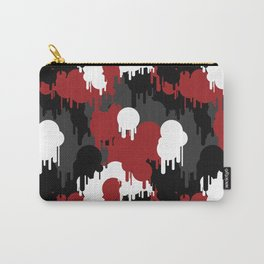 Graffiti Red Camo Pattern Carry-All Pouch