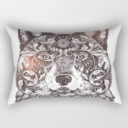 Ornamental Wolf Rectangular Pillow