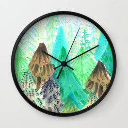 nature in textures Wall Clock