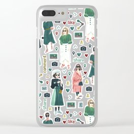 Social Girls 1 Clear iPhone Case